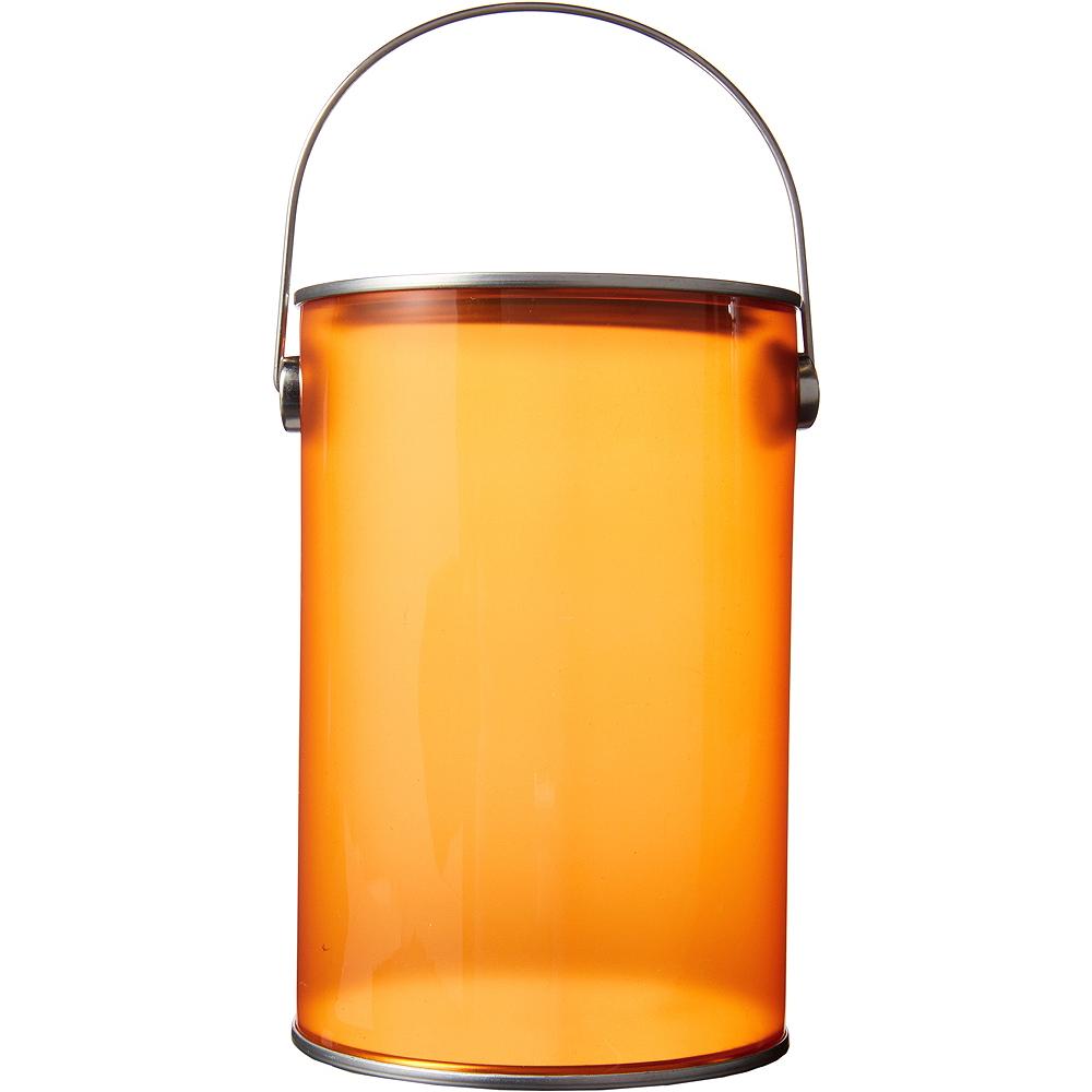 Small Orange Plastic Favor Paint Can Image #1