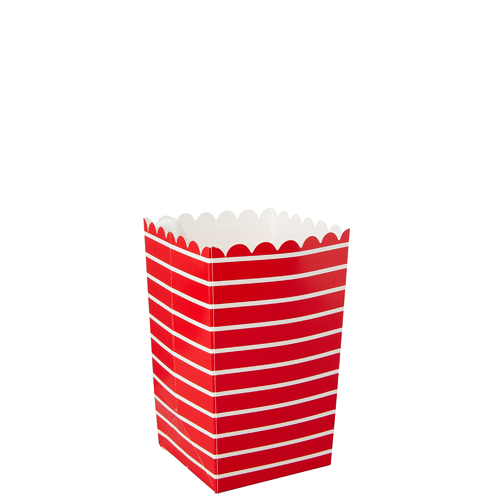 Nav Item for Mini Red Striped Popcorn Treat Boxes 6ct Image #1