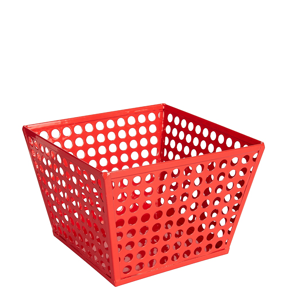 Red Metal Favor Basket Image #1