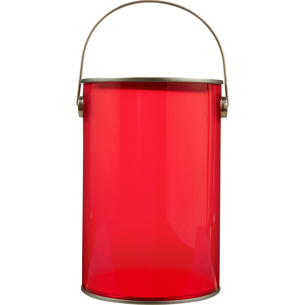 Small Red Plastic Favor Paint Can Image #1