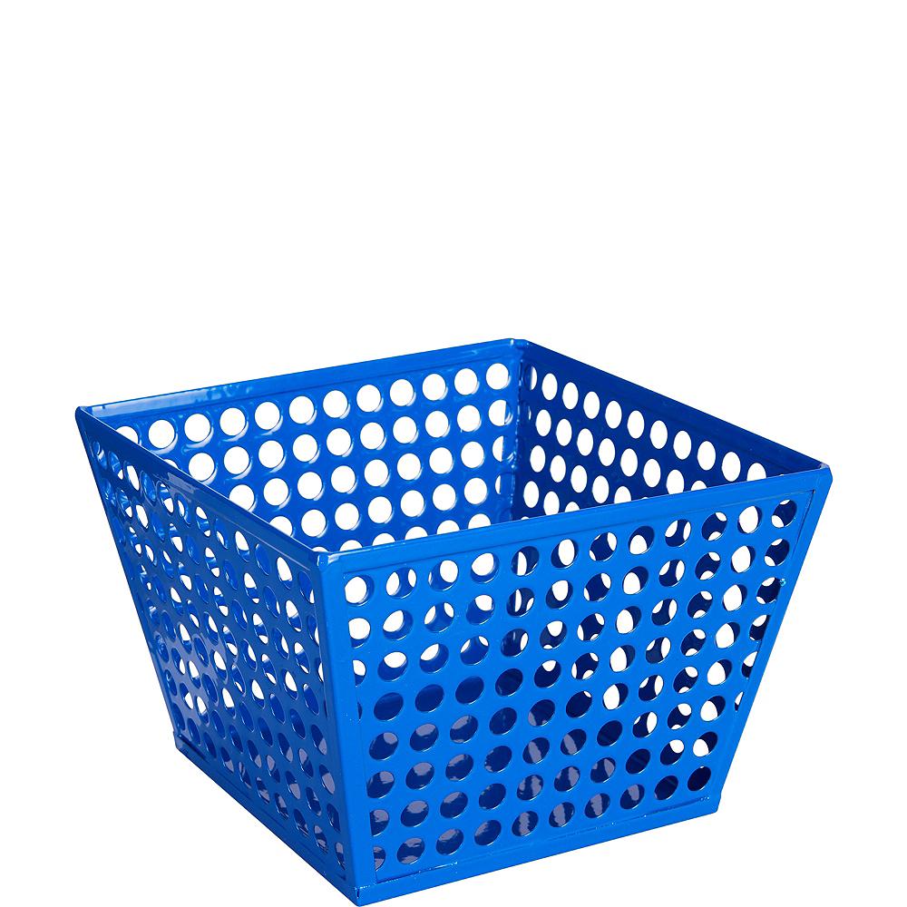 Royal Blue Metal Favor Basket Image #1