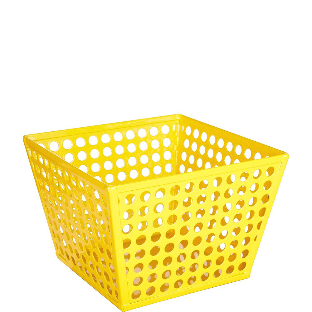 Sunshine Yellow Metal Favor Basket Image #1