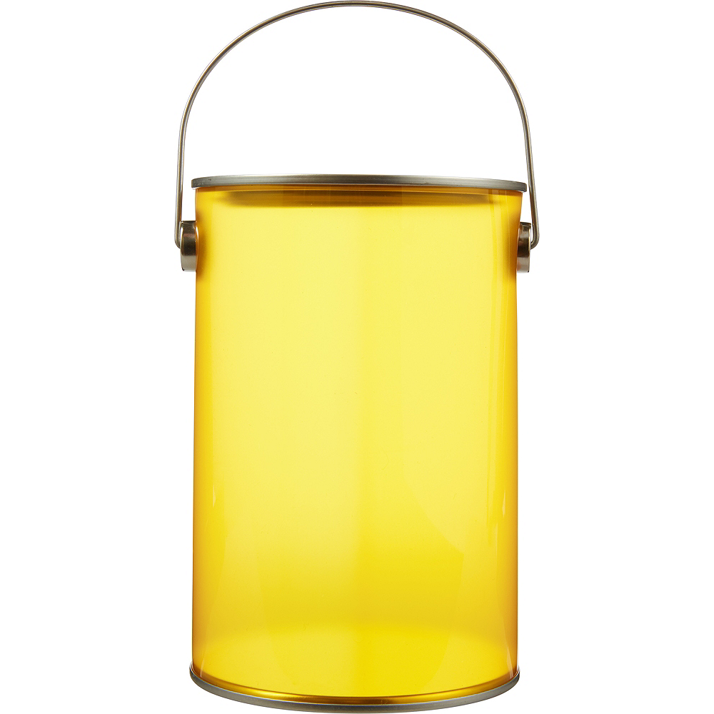 Small Sunshine Yellow Plastic Favor Paint Can Image 1