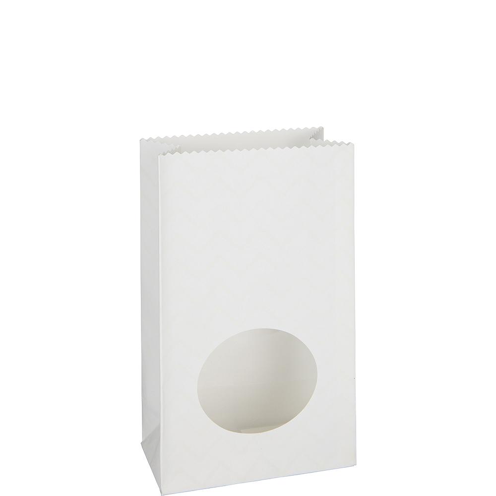 Medium White Paper Treat Bags with Seals 8ct Image #1