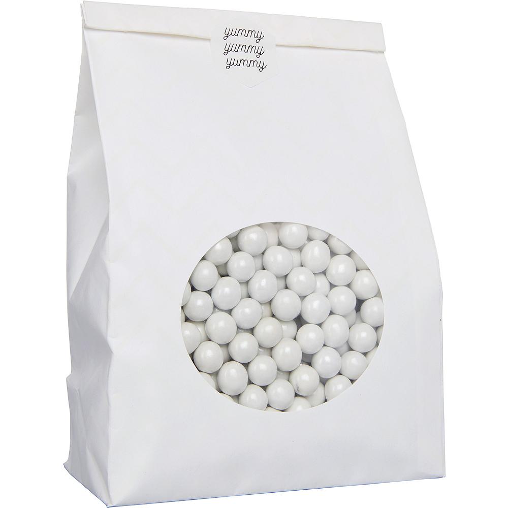 Medium White Paper Treat Bags with Seals 8ct Image #2