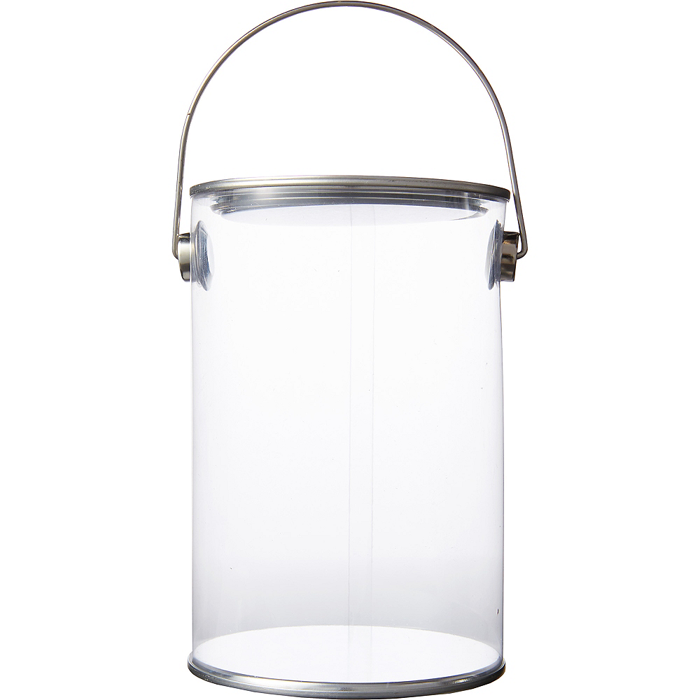 Small CLEAR Plastic Favor Paint Can Image #1