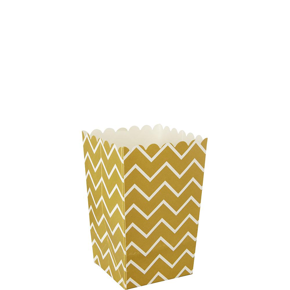 Mini Gold Chevron Popcorn Treat Boxes 6ct Image #1