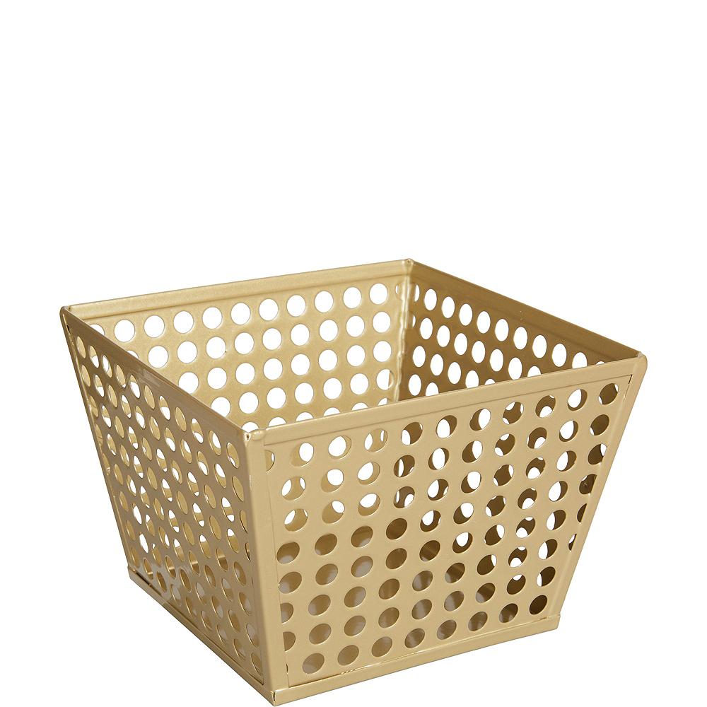 Gold Metal Favor Basket Image #1