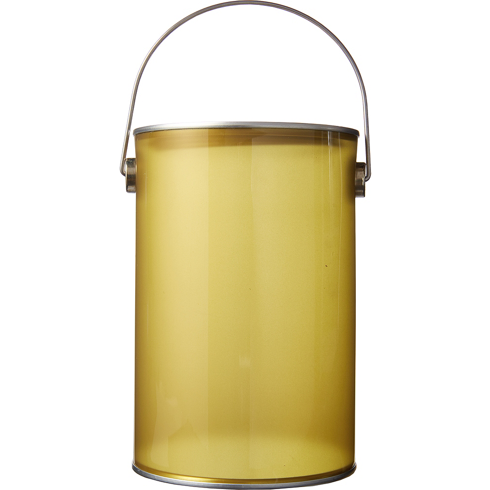 Small Gold Plastic Favor Paint Can Image #1