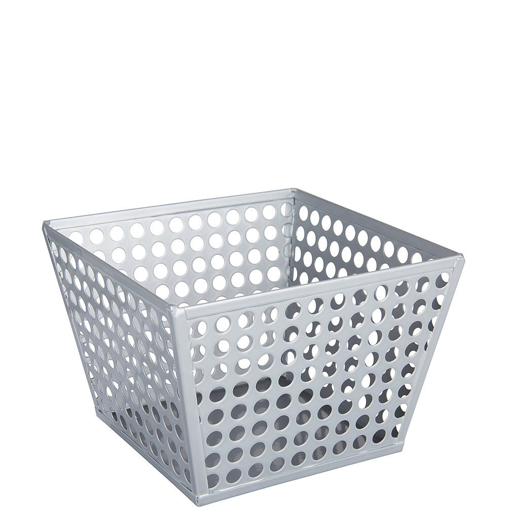 Nav Item for Silver Metal Favor Basket Image #1