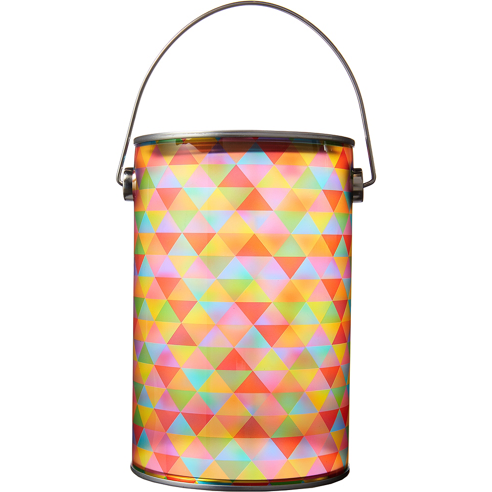 Nav Item for Small Rainbow Geometric Traingle Plastic Favor Paint Can Image #1