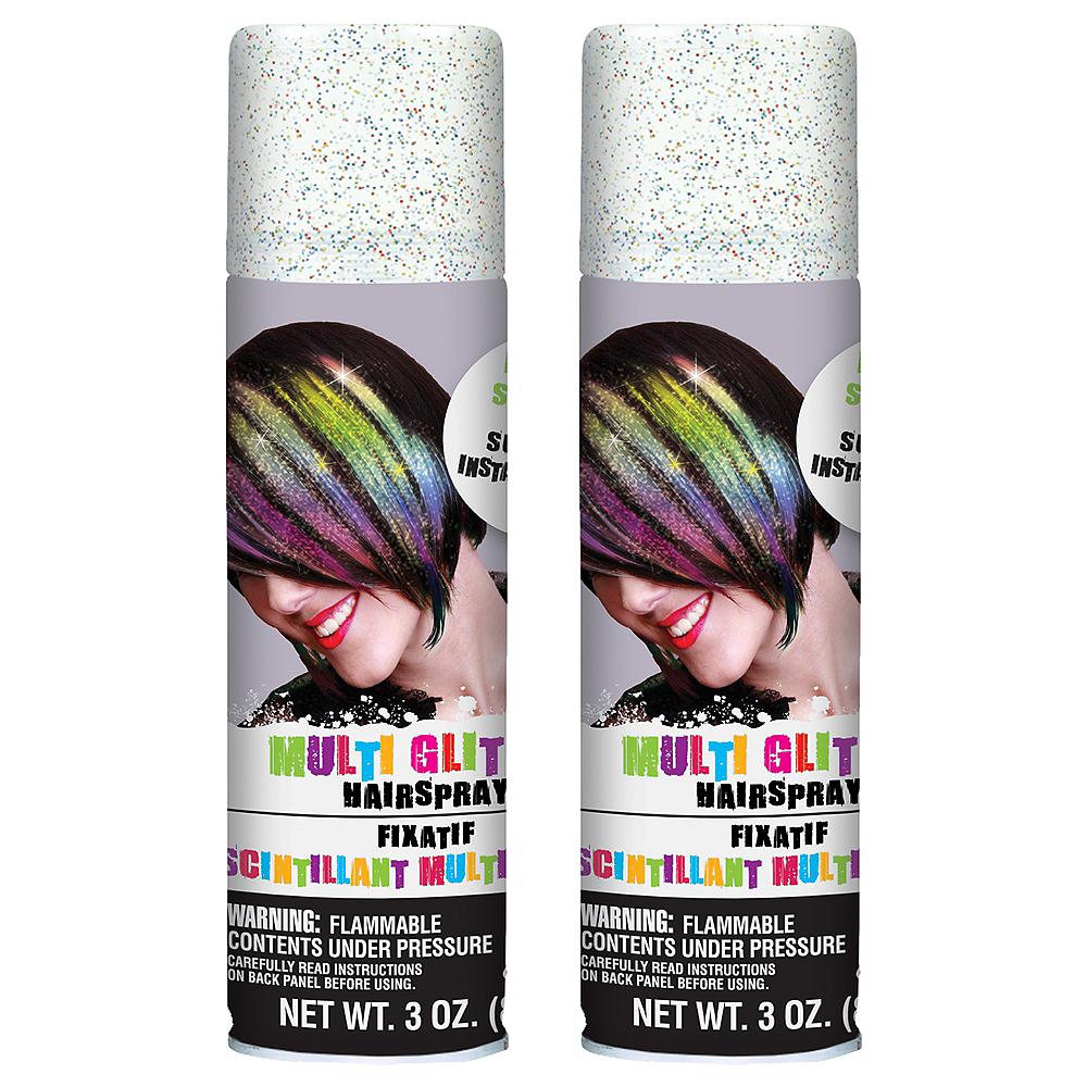 Glitter Rainbow Hair Spray 2ct Image #1