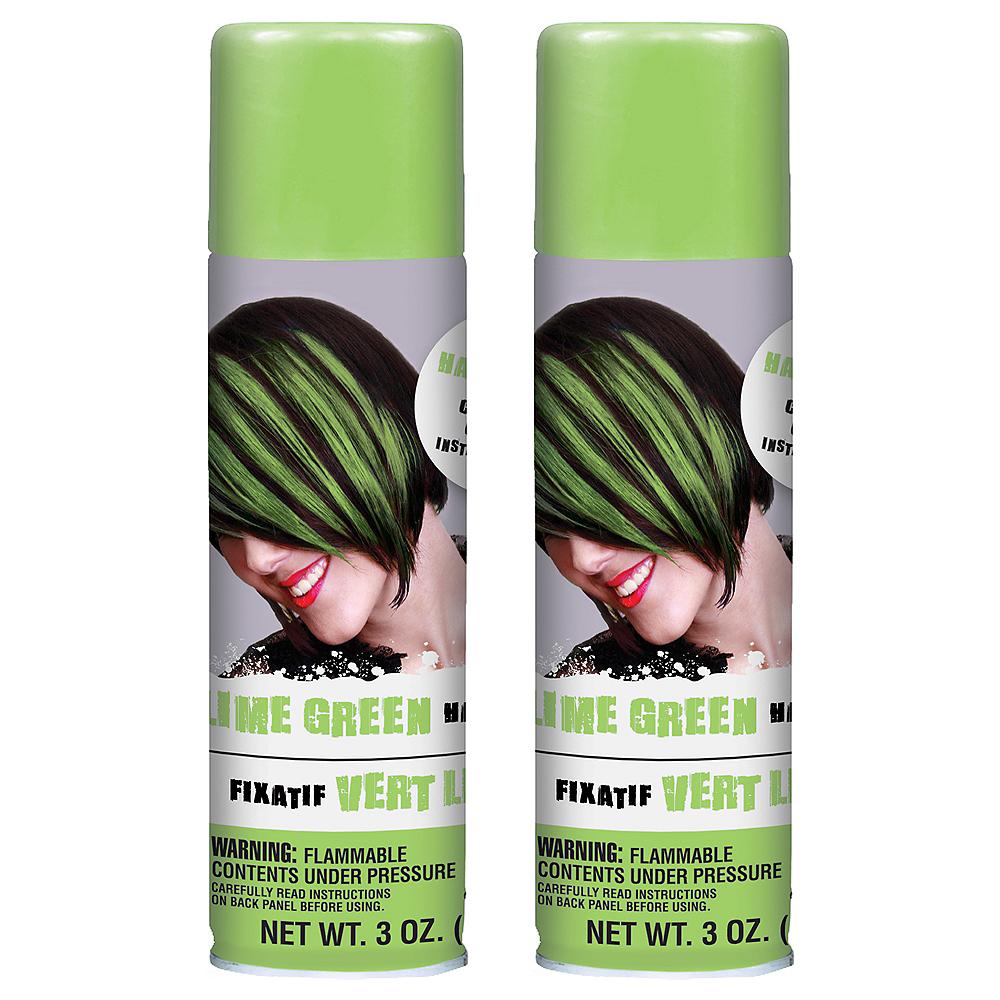 Lime Green Hair Spray 2ct Image 1
