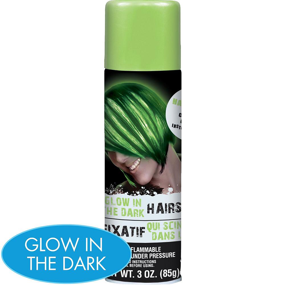 Glow in the Dark Hair Spray 5ct Image #2