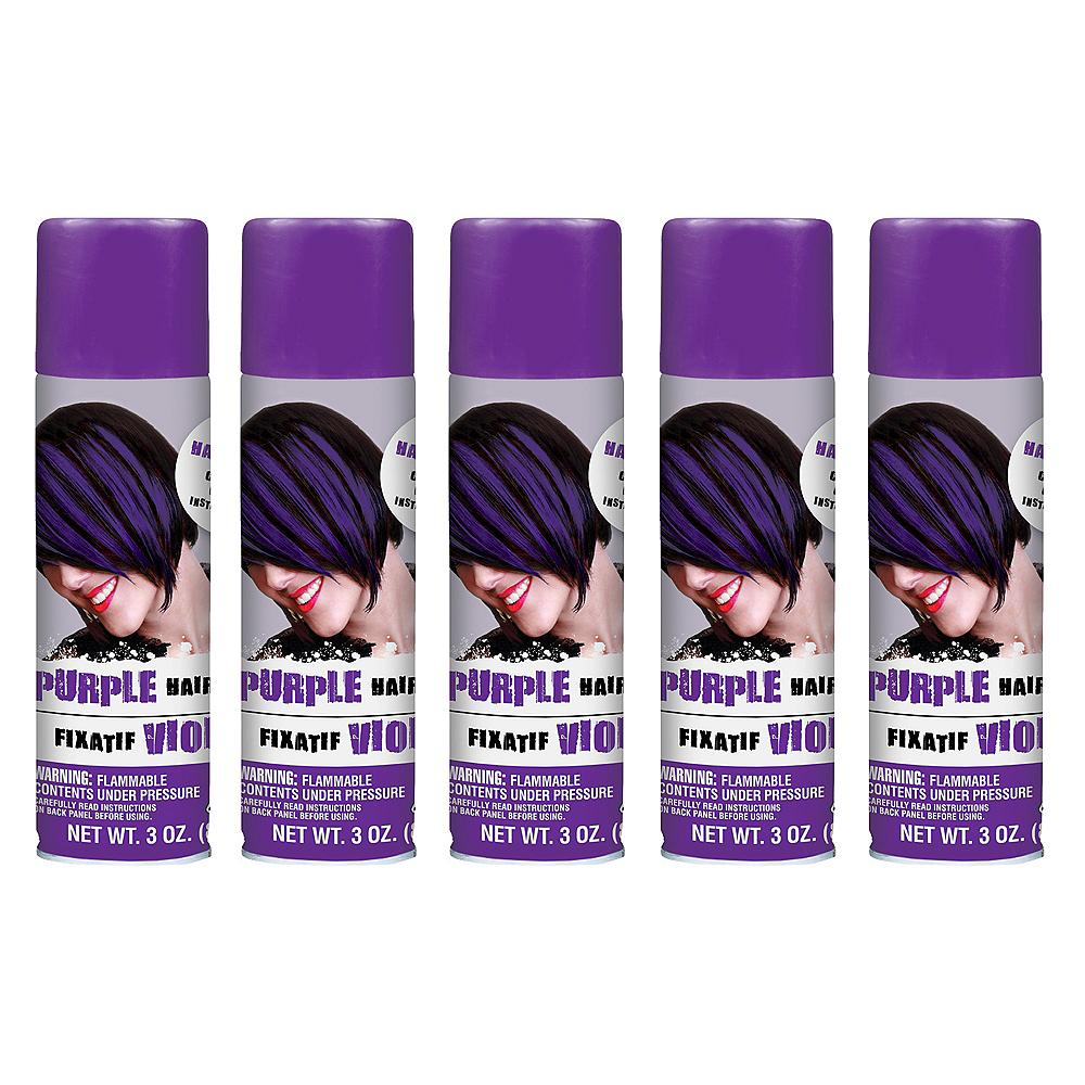 Purple Hair Spray 5ct Image #1