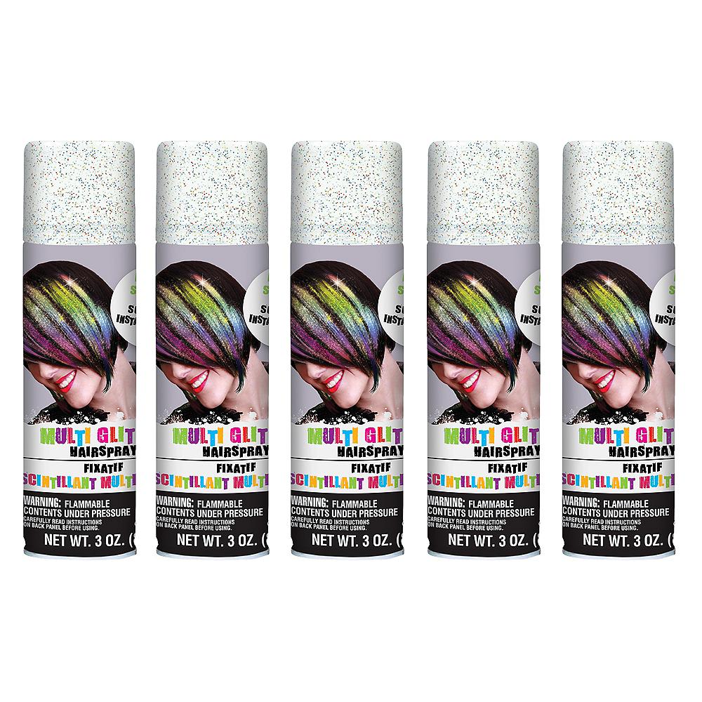 Glitter Rainbow Hair Spray 5ct Image #1
