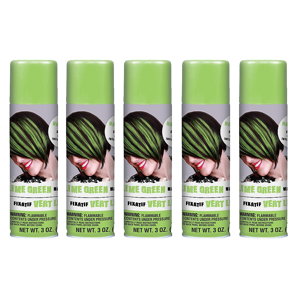 Lime Green Hair Spray 5ct Image #1