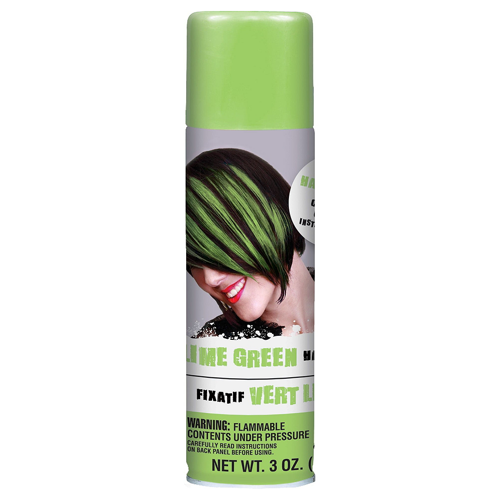 Lime Green Hair Spray 5ct Image #2