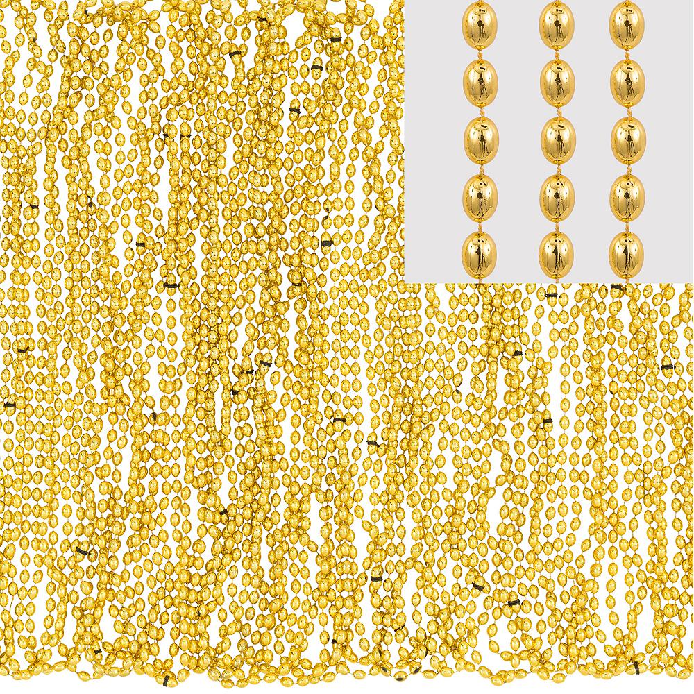 Metallic Gold Bead Necklaces 100ct Image #1