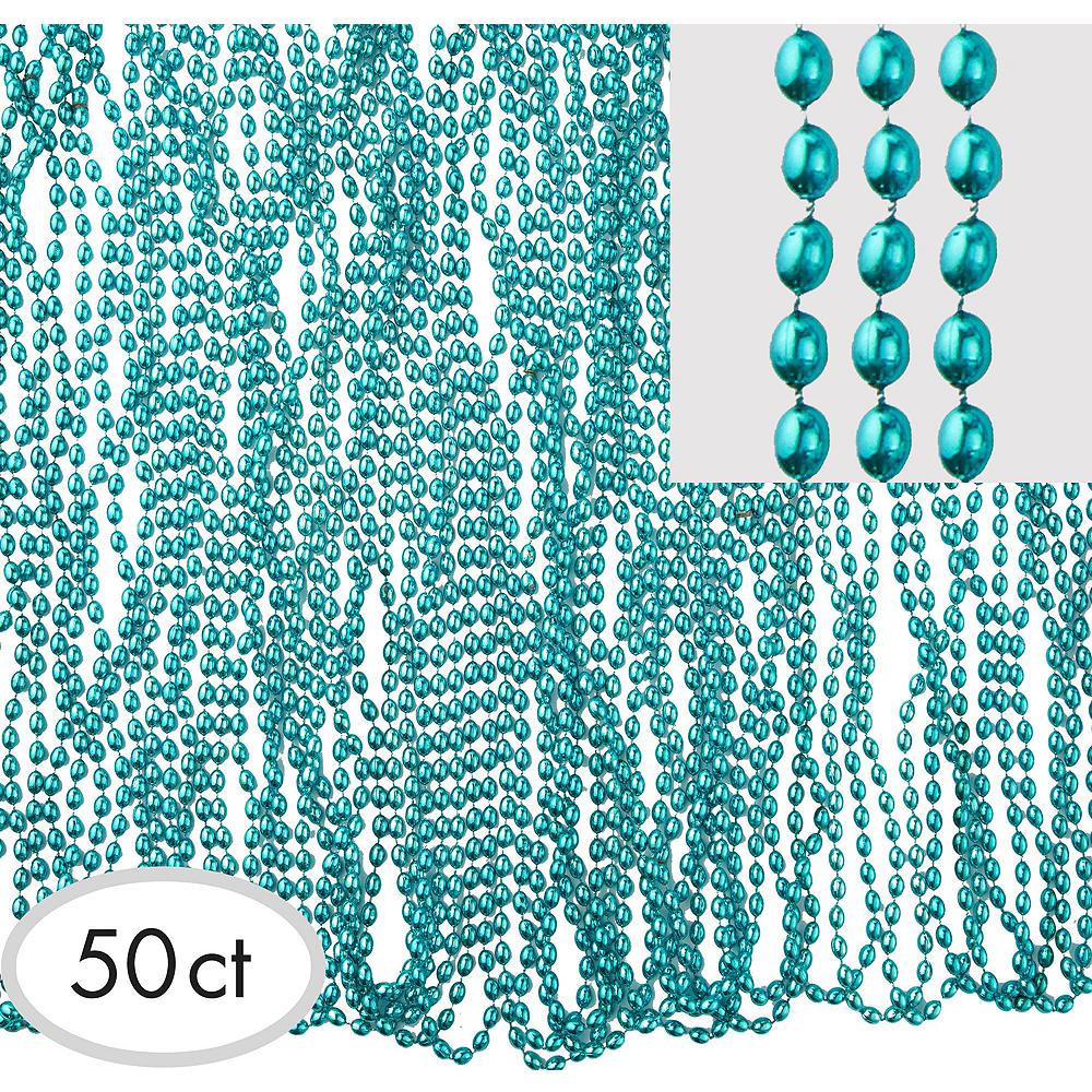 Metallic Turquoise Bead Necklaces 100ct Image #2