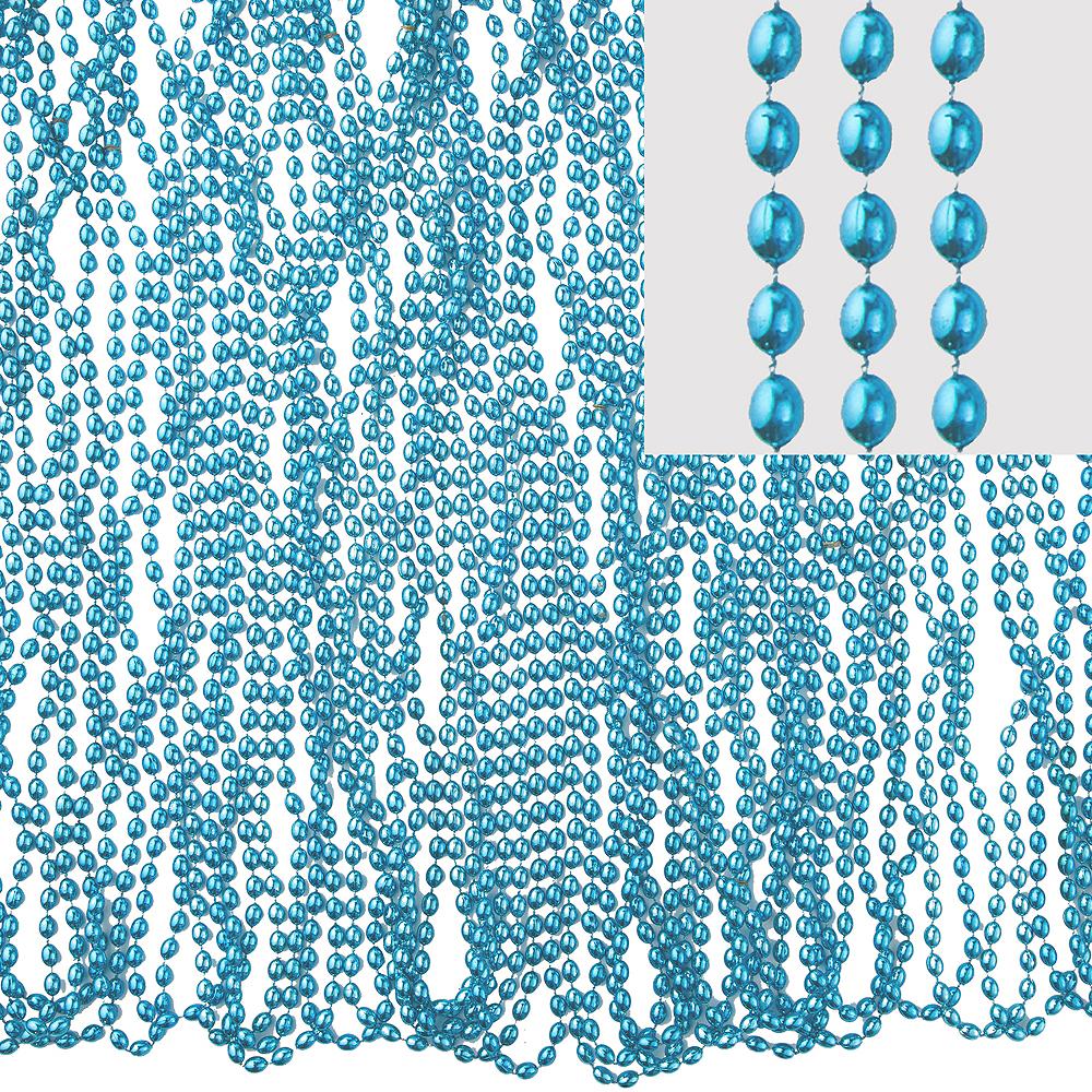 Metallic Light Blue Bead Necklaces 100ct Image #1