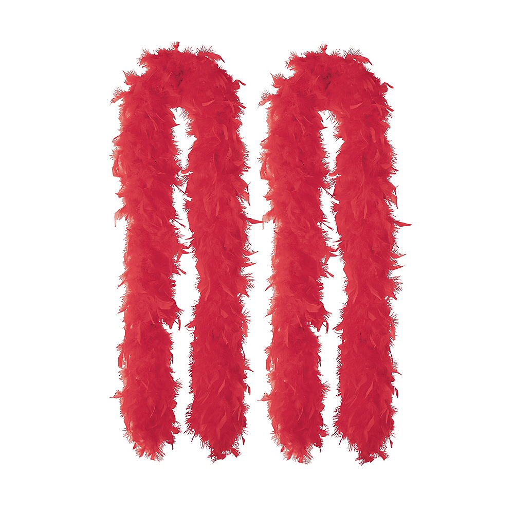 Red Feather Boas 2ct Image #1