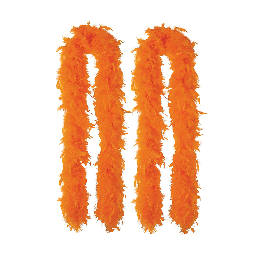 Orange Feather Boas 2ct Image #1
