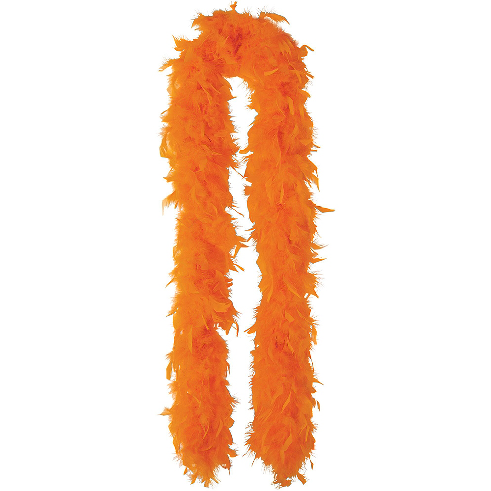Orange Feather Boas 2ct Image #2