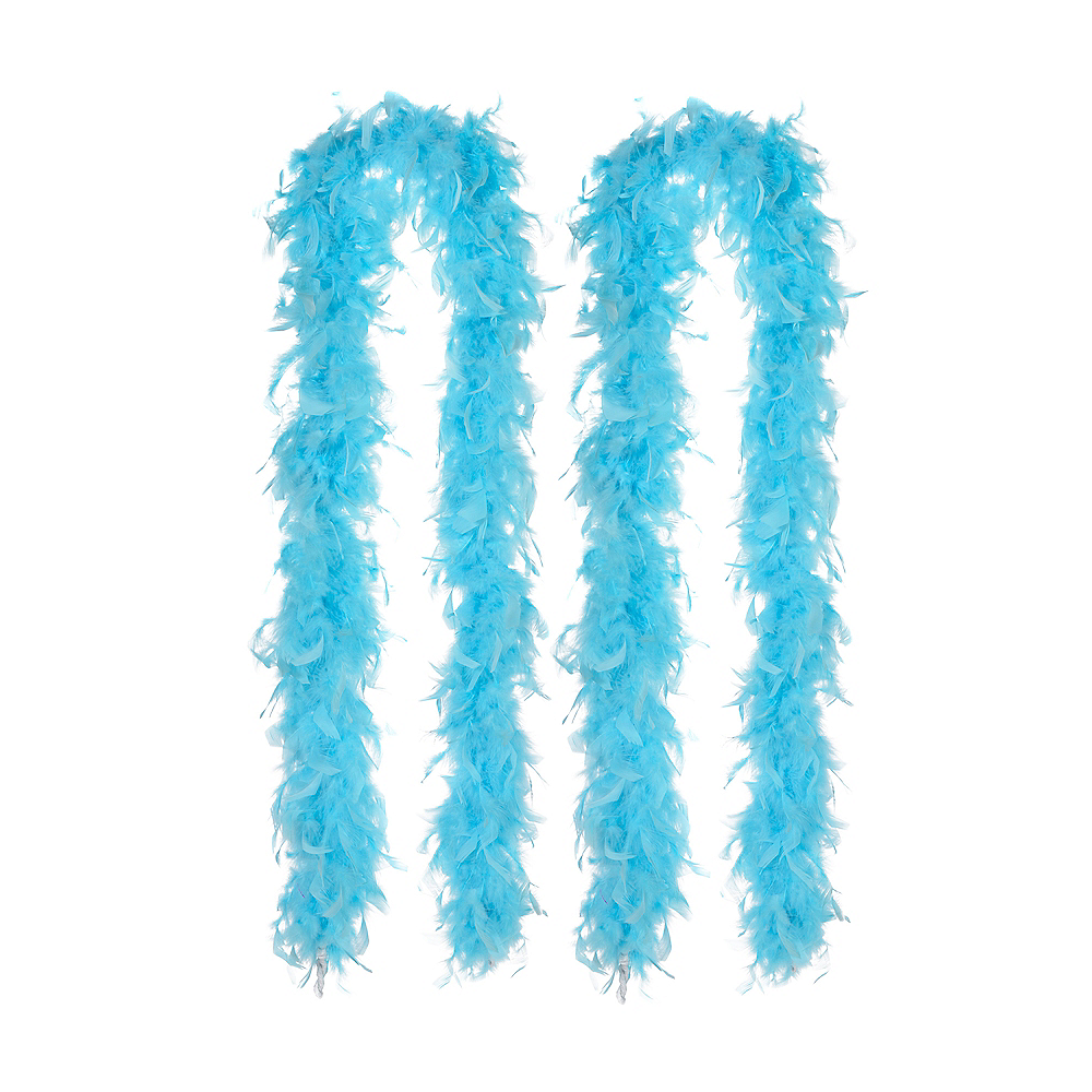 Turquoise Feather Boas 2ct Image #1