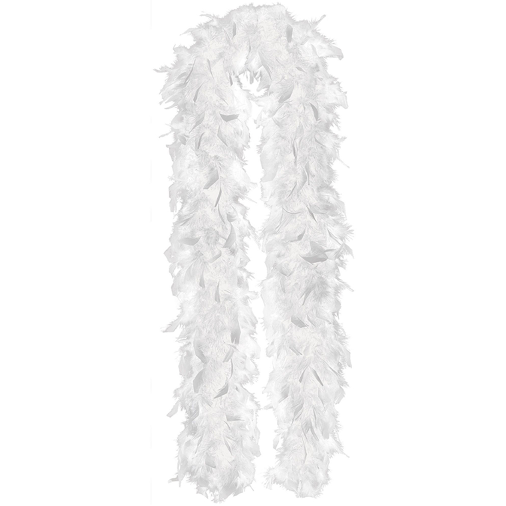 White Feather Boas 2ct Image #2