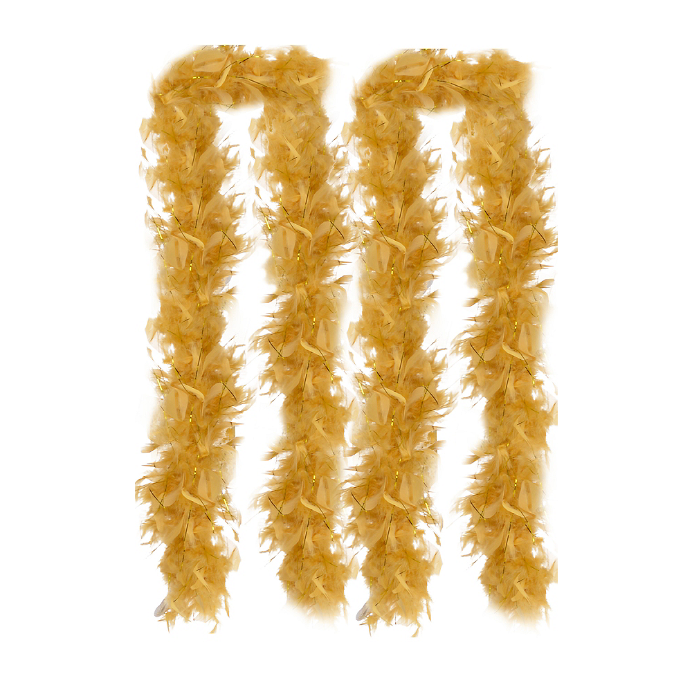 Gold Feather Boas 2ct Image #1