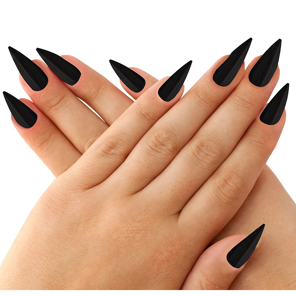 Black Witch Nails 10ct | Party City