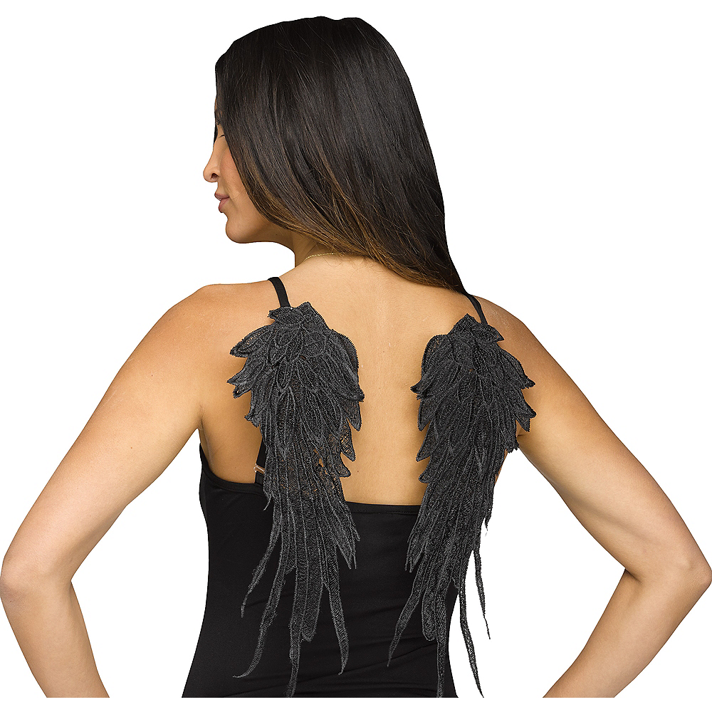 Black Applique Wings Image #1