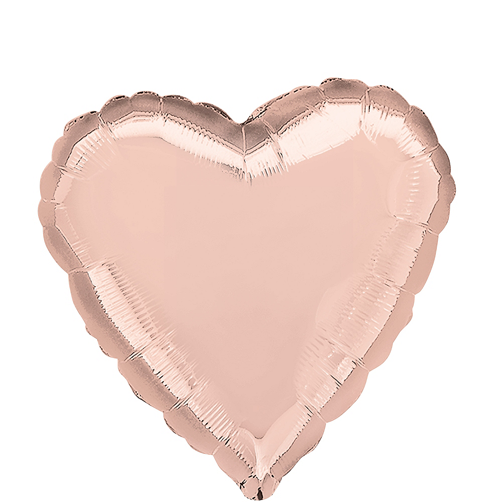 Rose Gold Heart Balloon Image #1