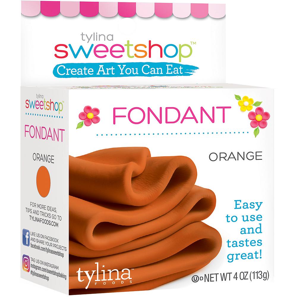 Tylina Orange Rolled Fondant Image #1