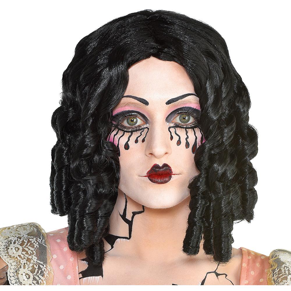 Adult Curly Black Wig Image #1