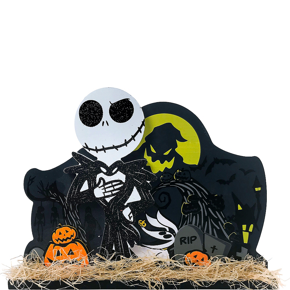 Glitter The Nightmare Before Christmas Table Sign 10 1/2in x 7 1/2in ...
