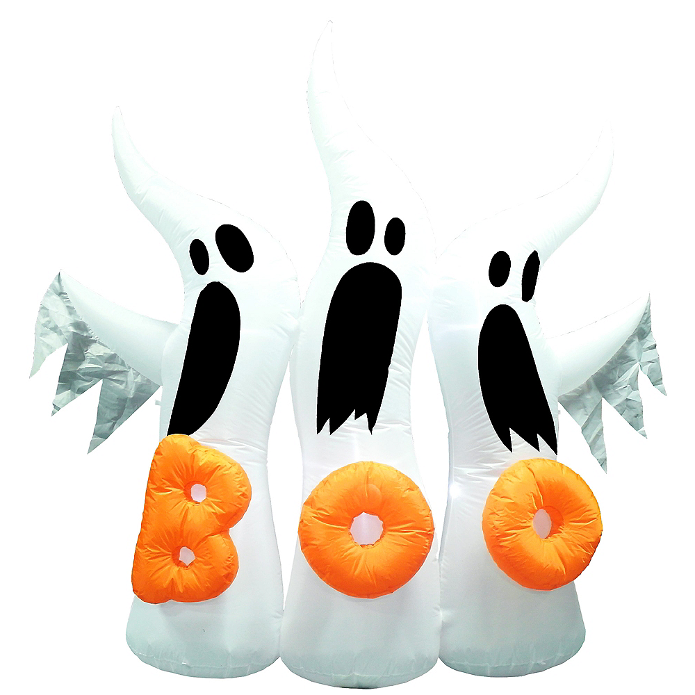 Light-Up Inflatable Ghosts 6ft | Party City