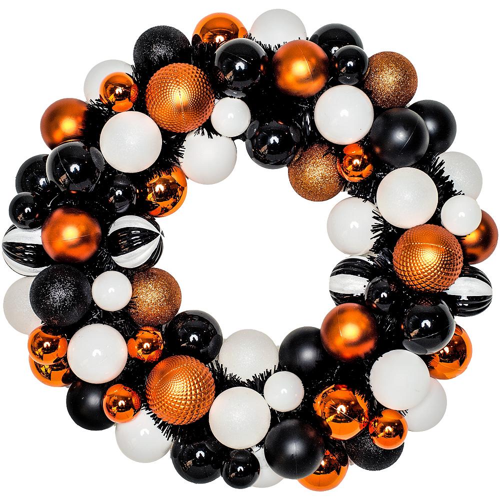 Glitter Halloween Ornament Wreath Image #1