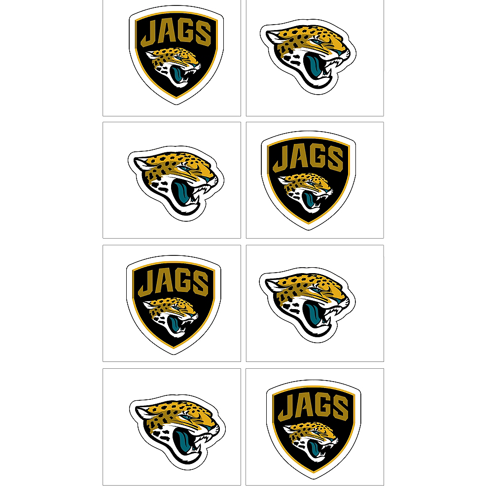 Nav Item for Jacksonville Jaguars Tattoos 8ct Image #1