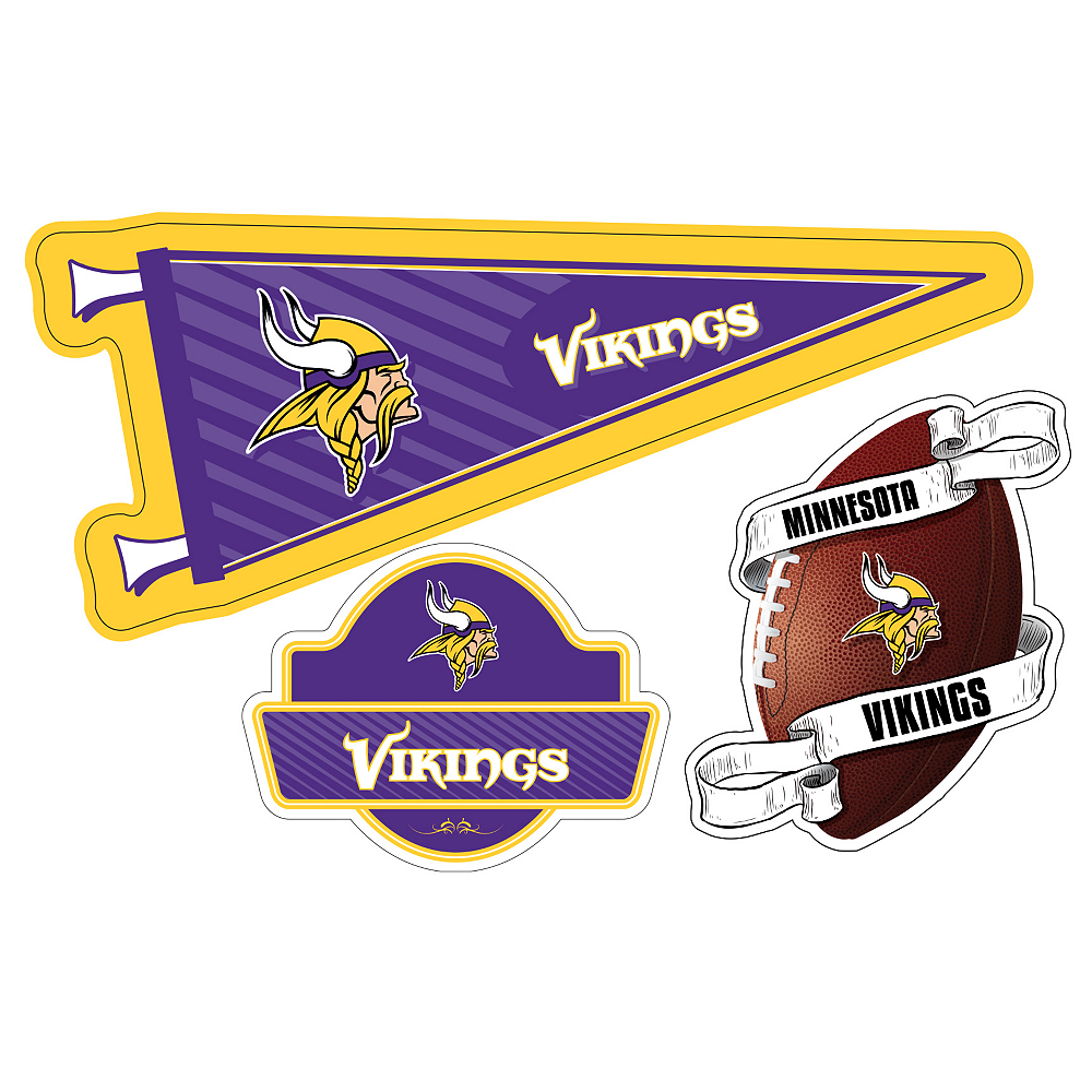 Minnesota Vikings Decals 3ct Image #1