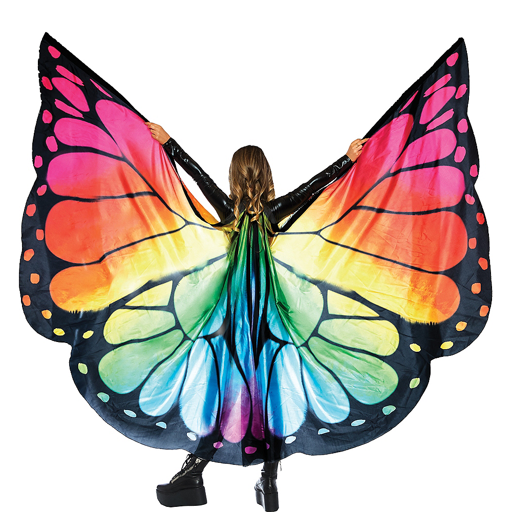 Rainbow Butterfly Wing Cape Image #1