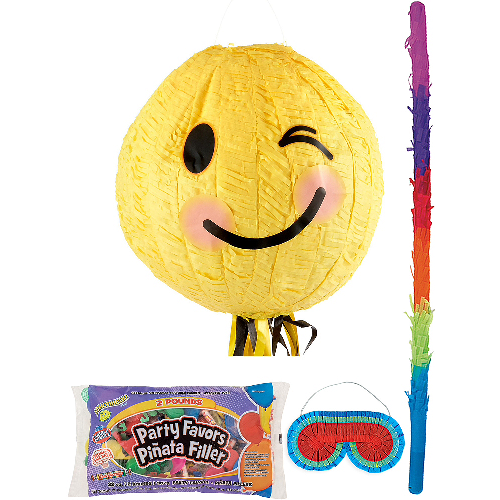 Winking Smiley Pinata Kit with Candy & Favors Image #1