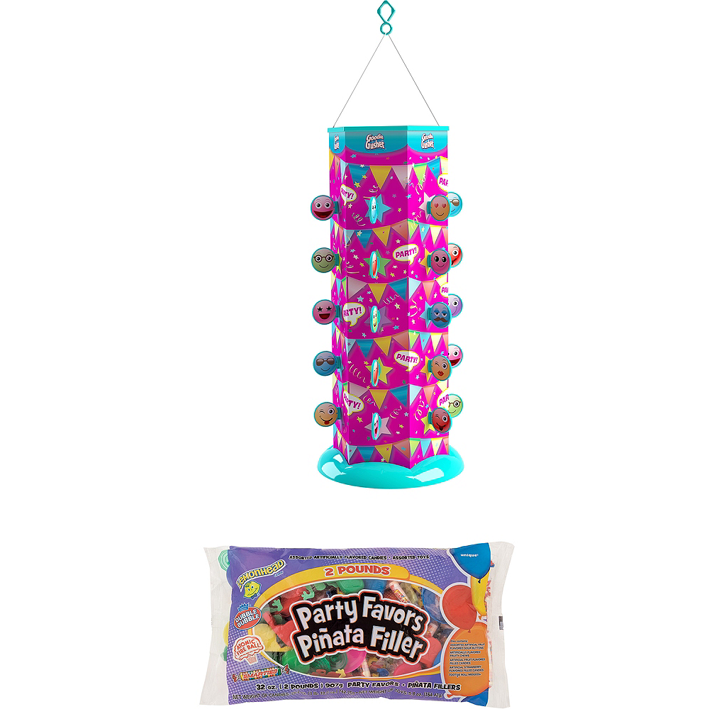 Nav Item For Smiley Goodie Gusher Pinata Kit With Candy Favors Image 1