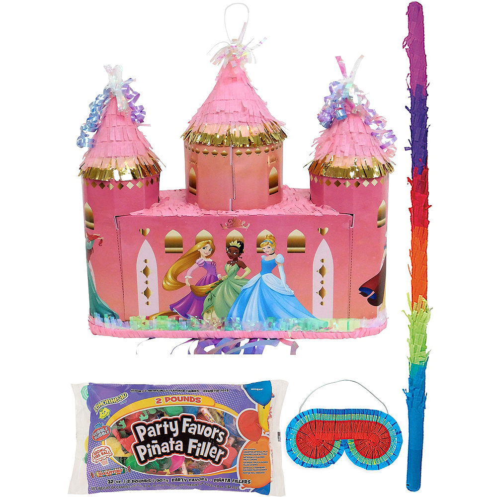 Disney Princess Castle Pinata Kit with Candy & Favors Image #1