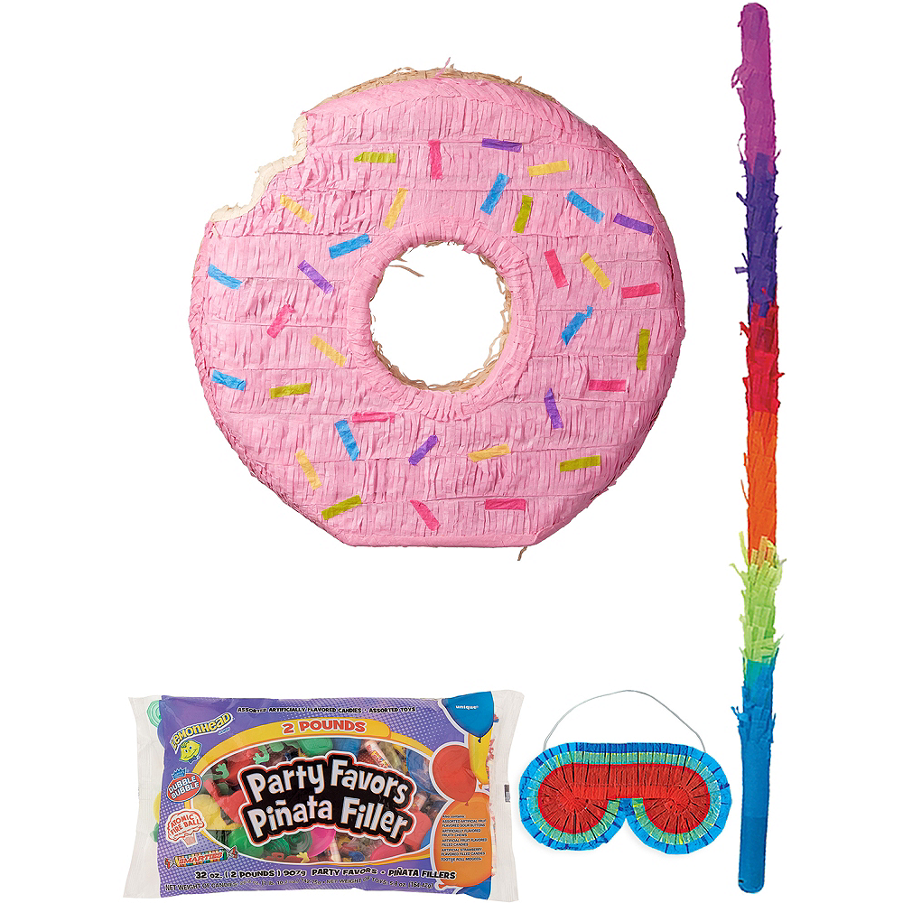 Pink Donut Pinata Kit with Candy & Favors Image #1