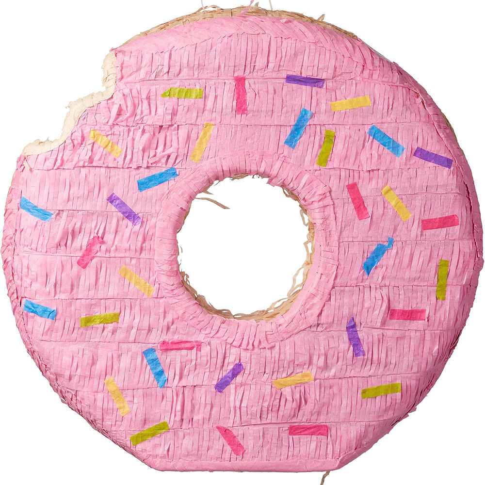 Pink Donut Pinata Kit with Candy & Favors Image #2