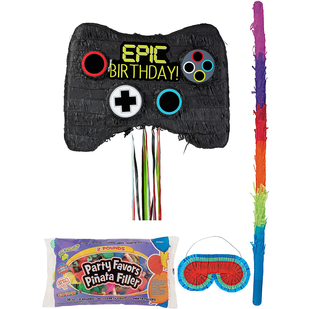 Video Game Controller Pinata Kit with Candy & Favors Image #1