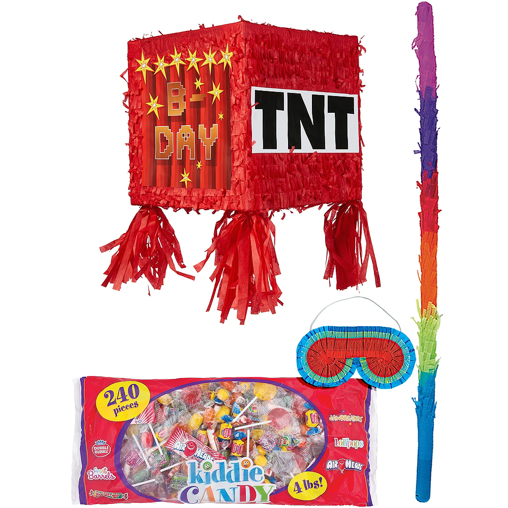Pixelated TNT Block Pinata Kit Image #1