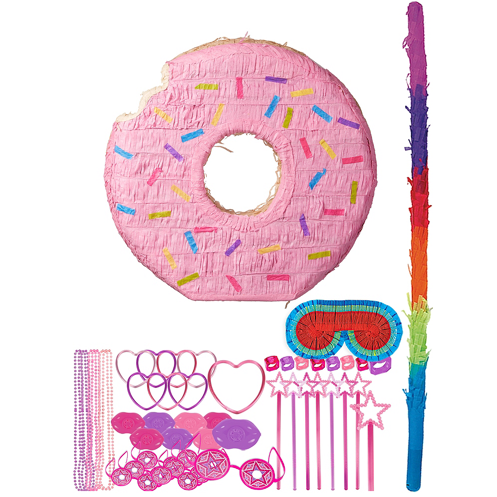 Pink Donut Pinata Kit with Favors Image #1